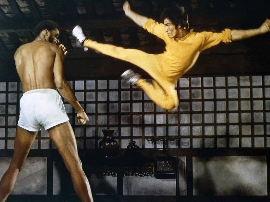 Bruce Lee photos with Kareem Abdul-Jabbar in Game of Death