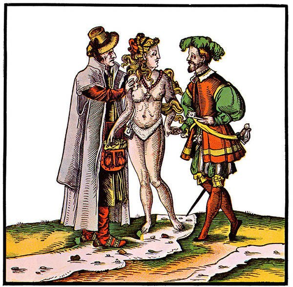Cartoon Of A Woman In A Chastity Belt