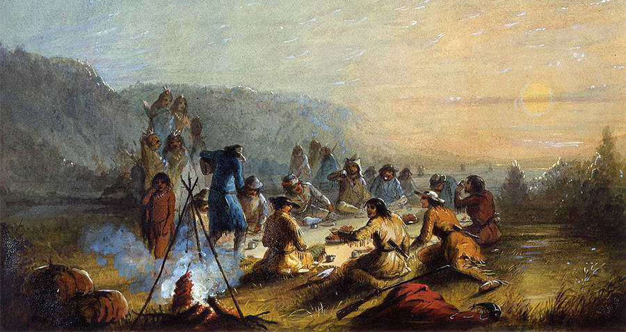 Fur Traders Meet Indians