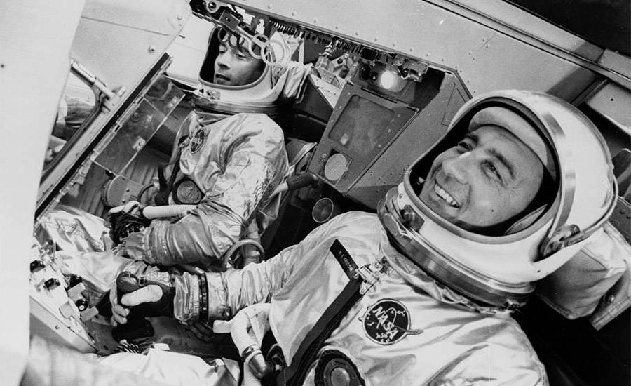 "John Young and Virgil ""Gus"" Grissom on the Gemini 3"