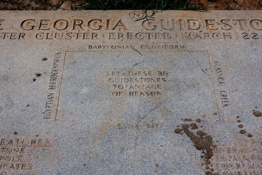 Georgia Guidestones Text