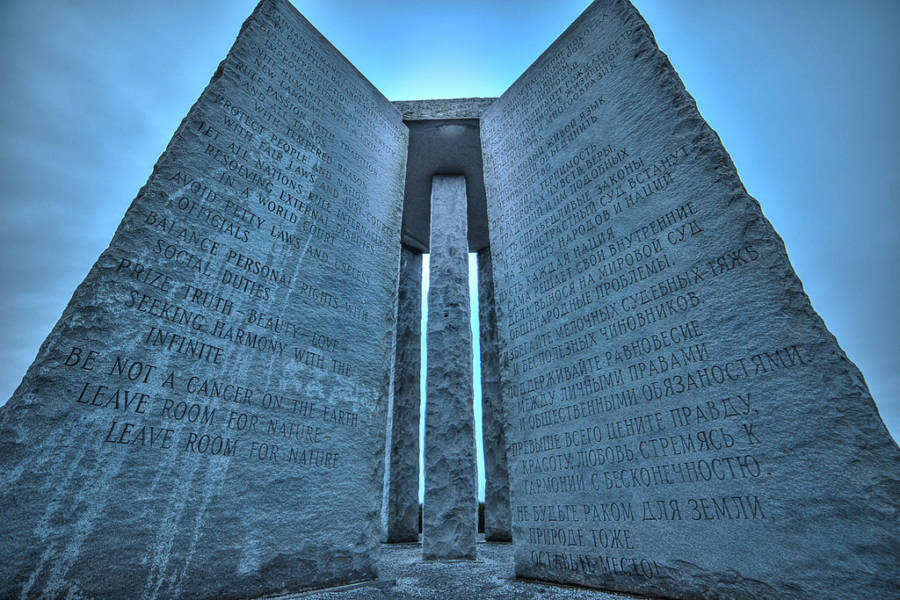 Georgia Guidestones Up Close