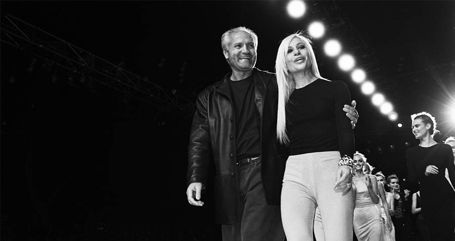Gianni and Donatella Versace