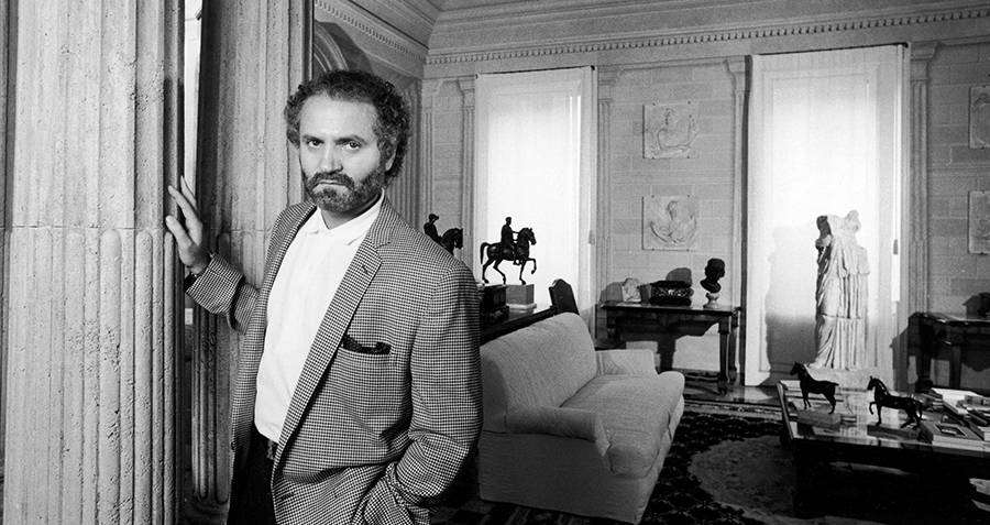 Gianni Versace In His Home