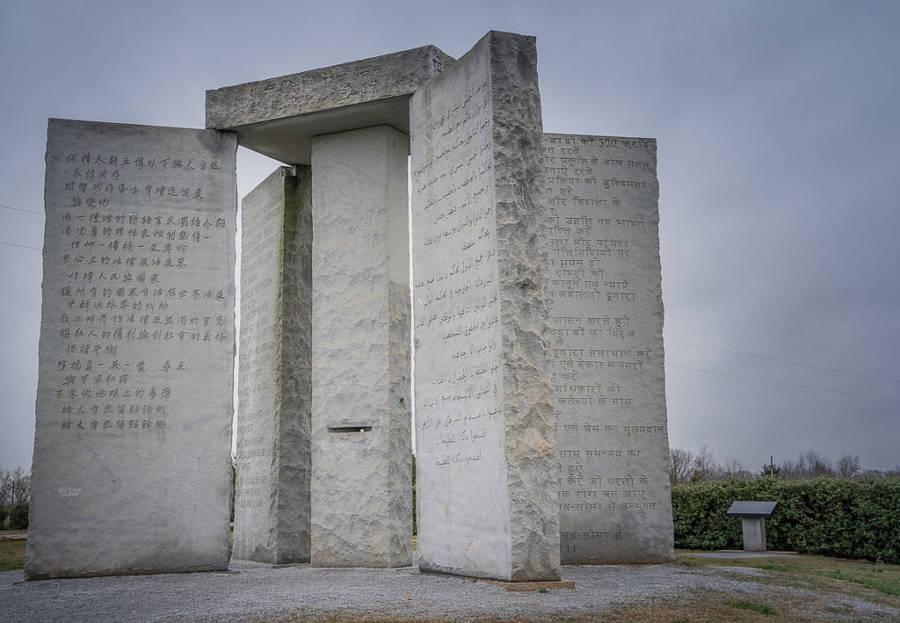 Guidestones On A Cloudy Day