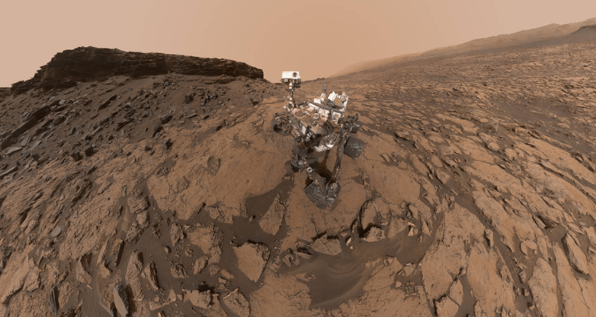 Curiosity on Mars surface