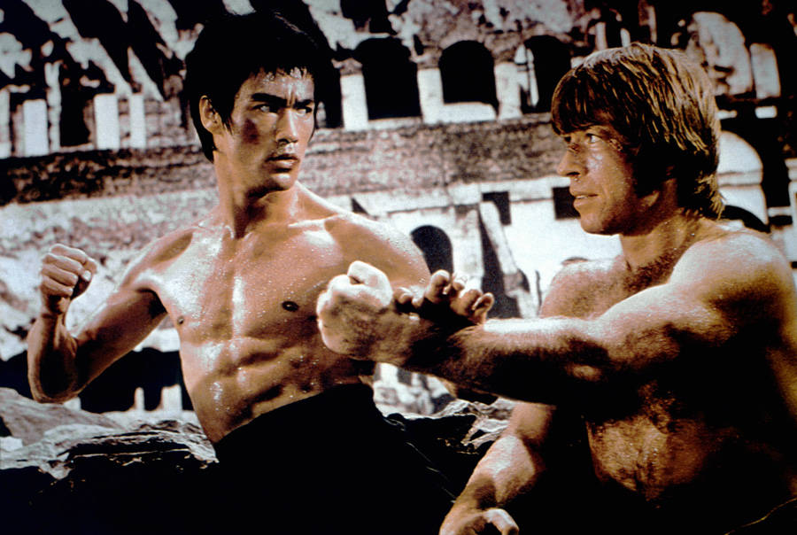 Bruce Lee photos with Chuck Norris