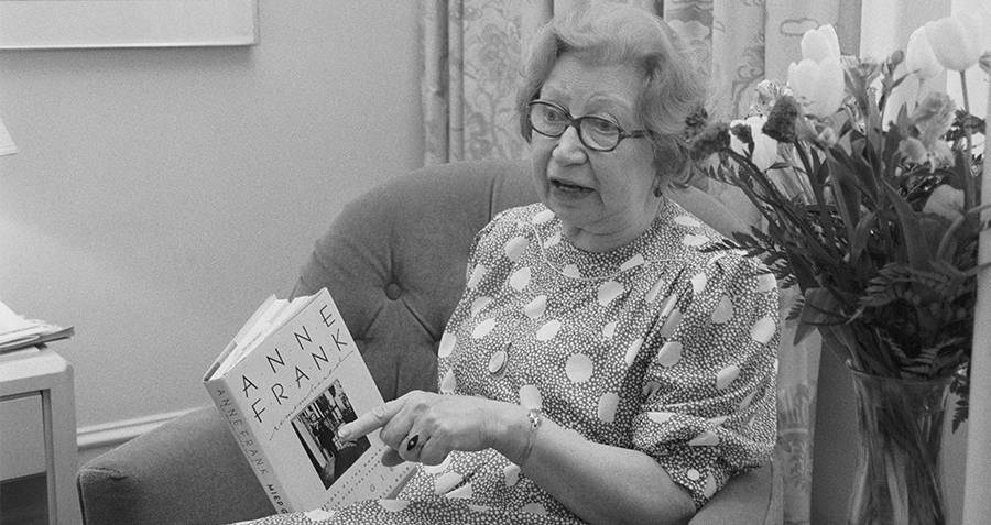 Miep Gies Holding Anne Frank's Diary