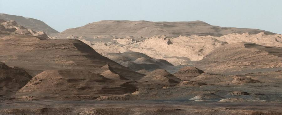 View of Mount Sharp on Mars