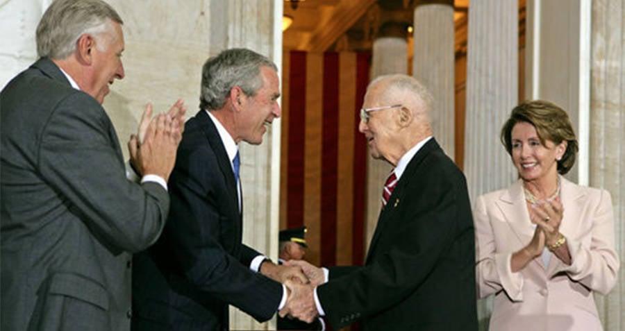 Norman Borlaug Receiving the Congressional Gold Medal