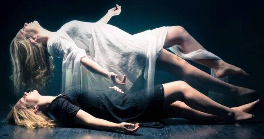 Woman In An Out-of-body Experience