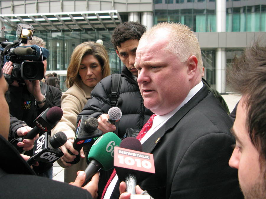 Rob Ford With The Press