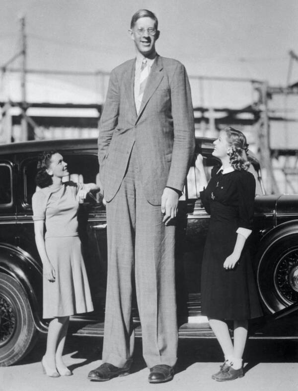 Robert Wadlow With Actresses