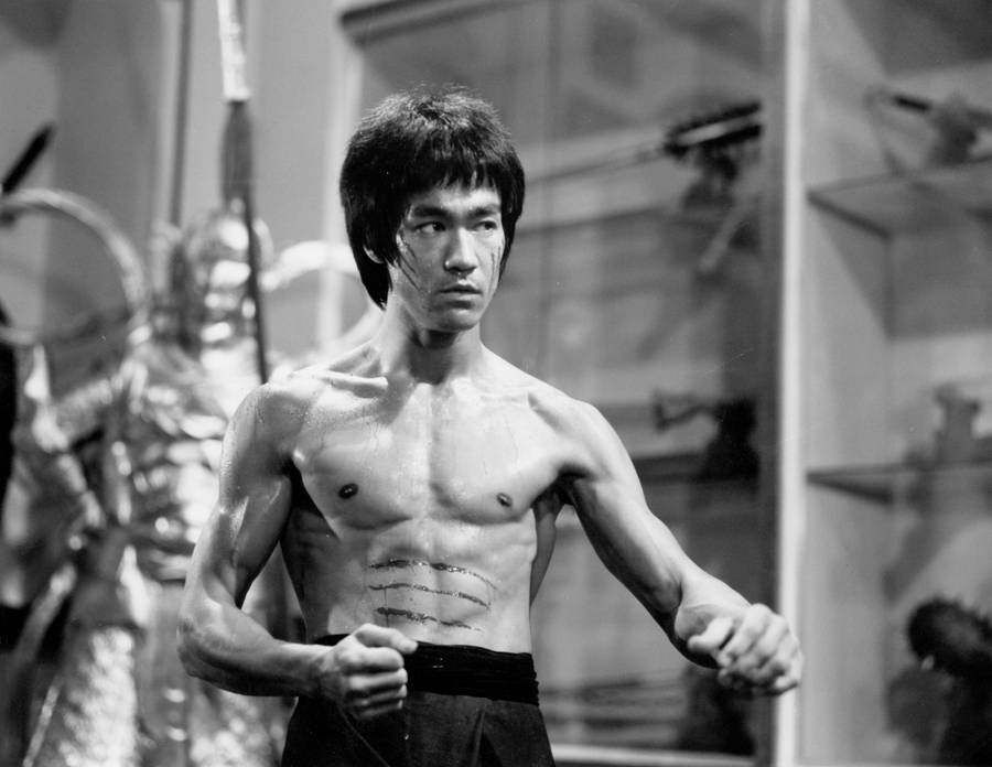 Bruce Lee fight scene in Enter the Dragon