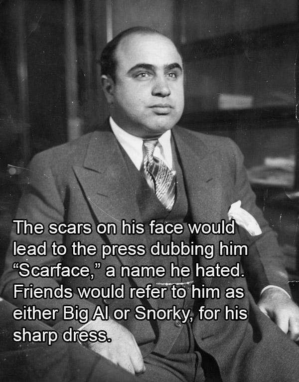 Al Capone Wearing A Suit