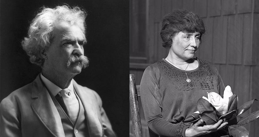 Mark Twain and Helen Keller
