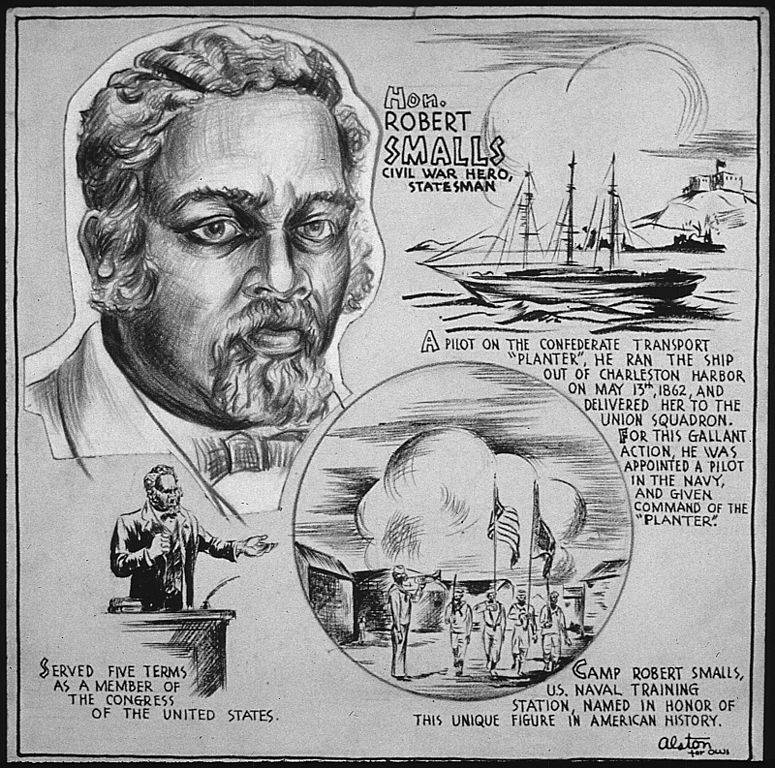 Illustration Of Robert Smalls