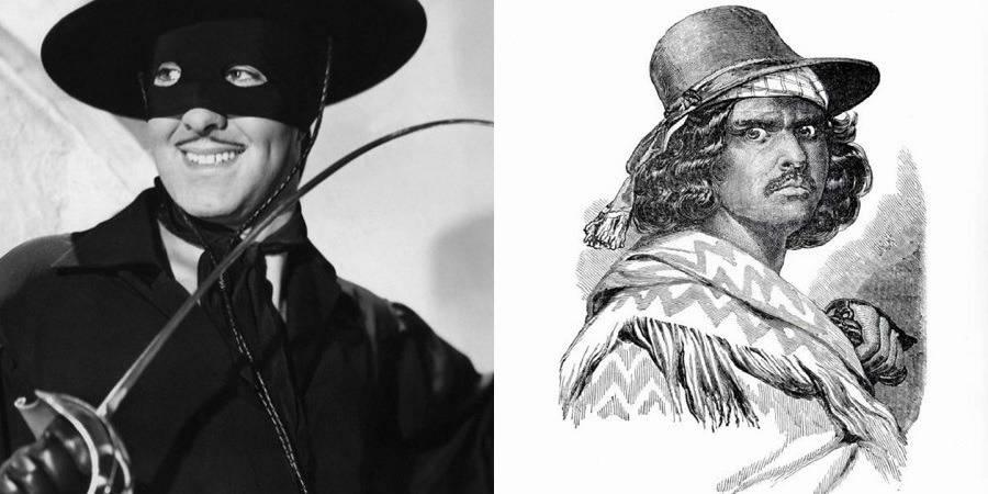 Zorro and Joaquín Murrieta