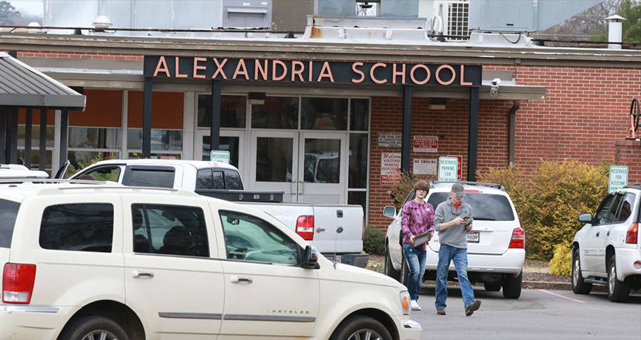 Alexandria School Students Walking
