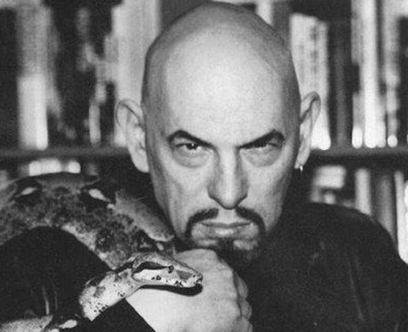 Anton Lavey And A Snake