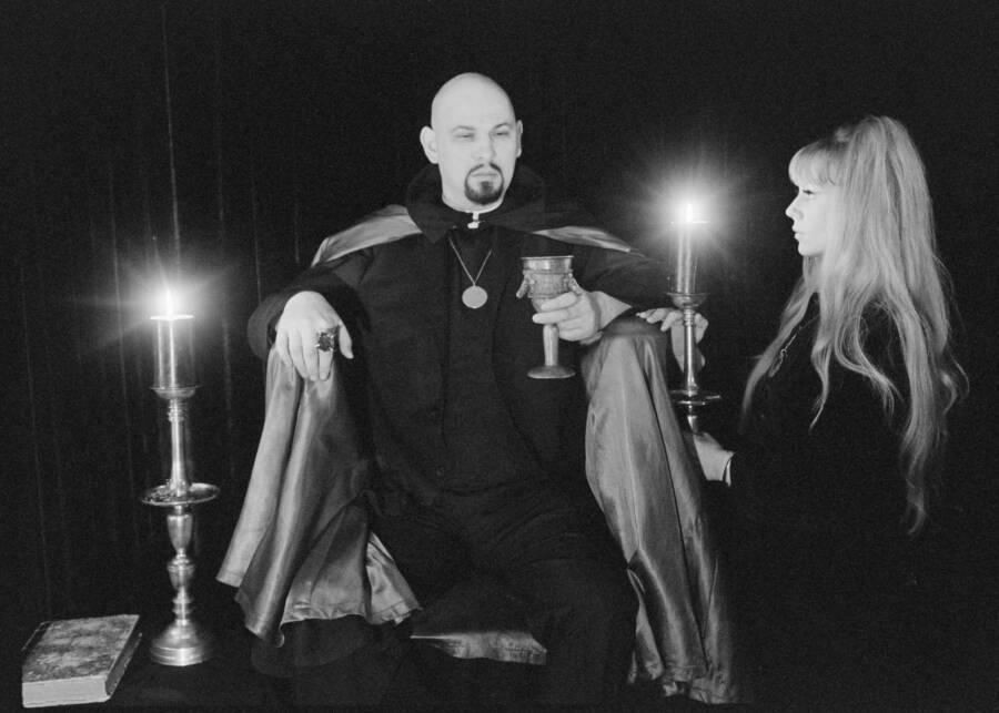 Anton Lavey At Church Of Satan Ceremony