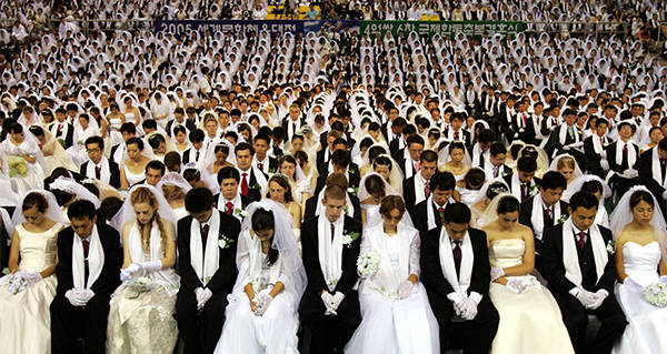 inside the unification church s strange mass wedding ceremonies