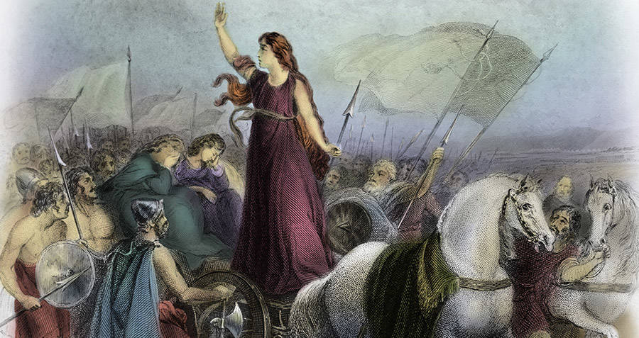Queen Boudicca Leading An Army
