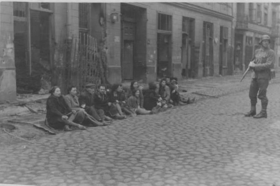 Captured Jews On Streetside
