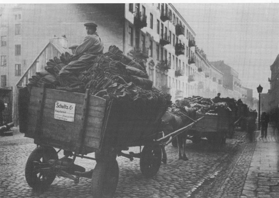 Cart In Warsaw Ghetto