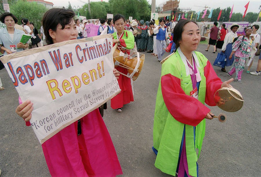 Women Protesting Japan And Comfort Women