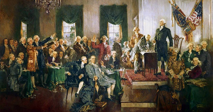 Founding Fathers Religion Signing Of The Constitution