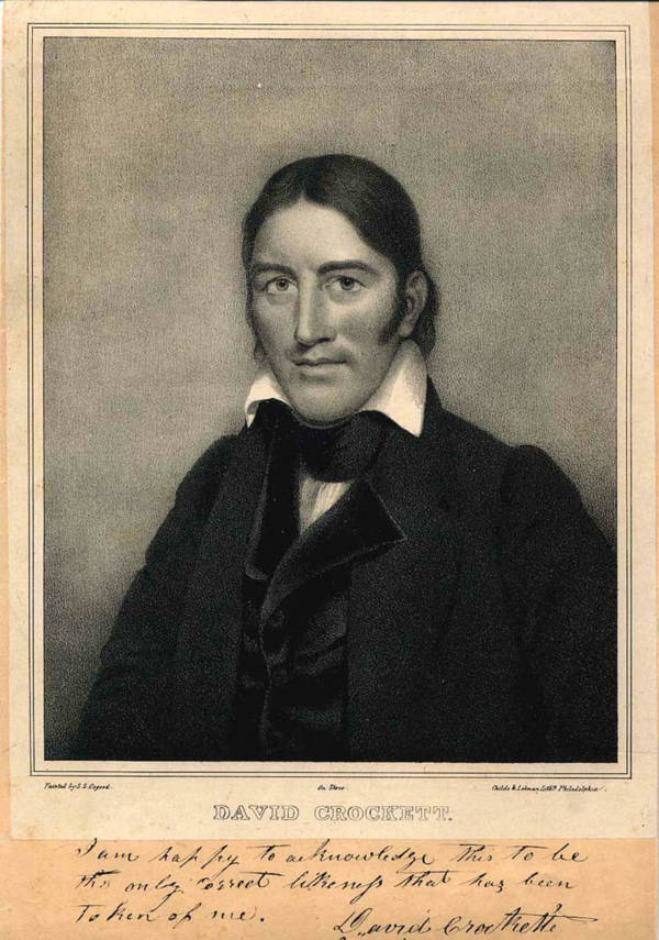 Autographed Photo Of David Crockett