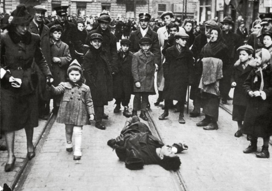 Dead Man In Warsaw Ghetto