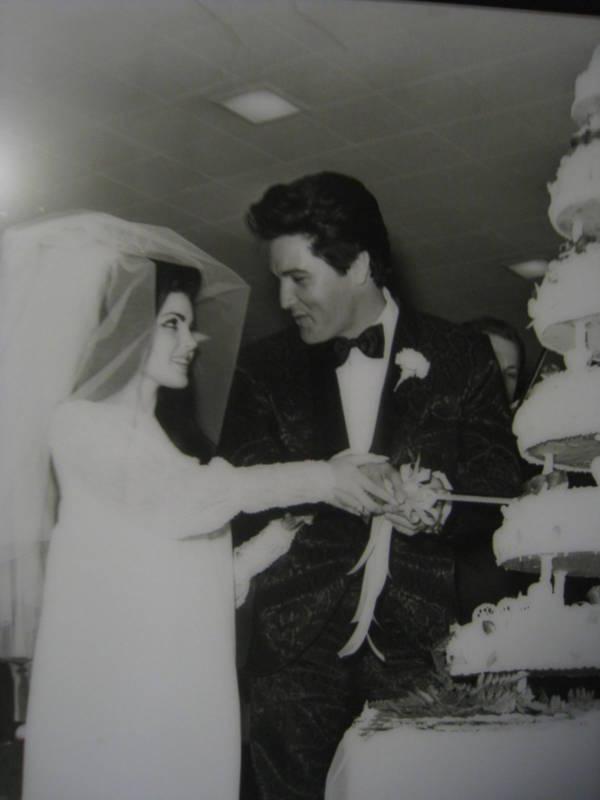 Elvis And Priscilla On Their Wedding