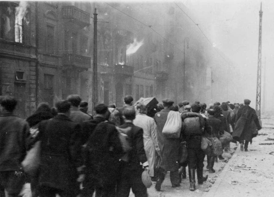 Evacuating Warsaw Ghetto