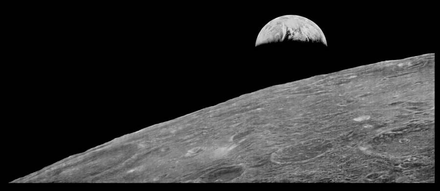 First Earth Photo From Moon