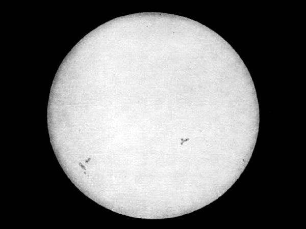 First Photograph Of The Sun