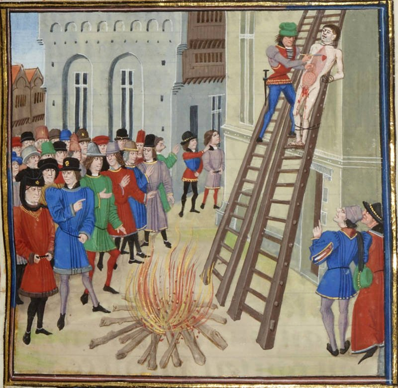 Man Being Hanged Drawn And Quartered