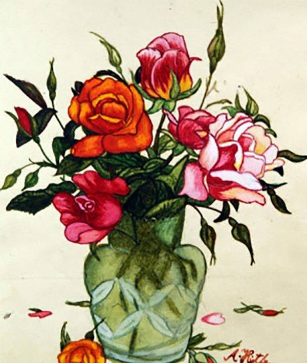 Hitler Painting Of Roses