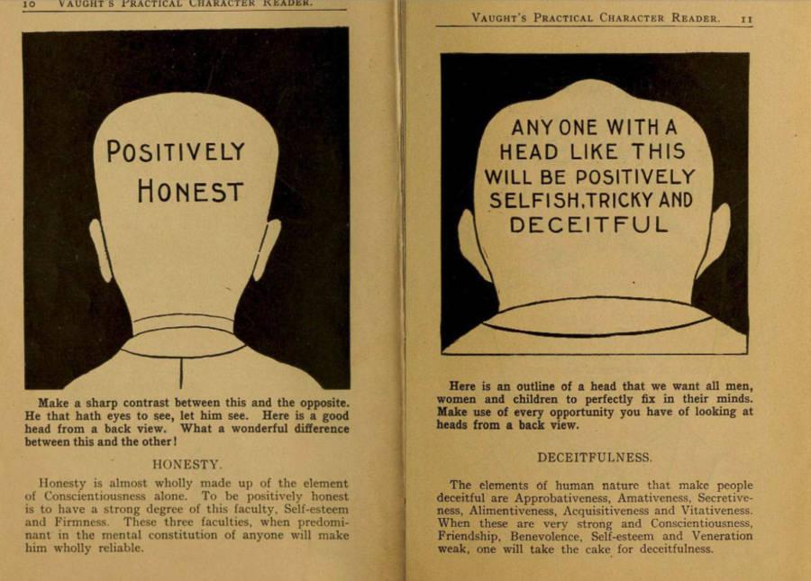 Phrenology Honest Vs. Deceitful