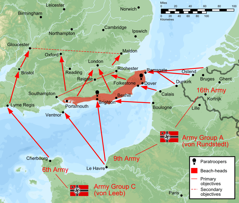 Initial Operation Sea Lion Plan