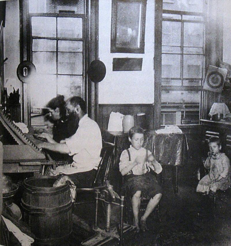 Jacob Riis Photographs Bohemian Cigarmakers