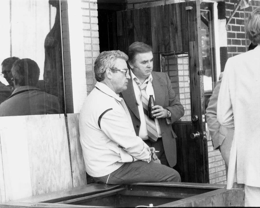 Jimmy Burke Outside Roberta's Tavern