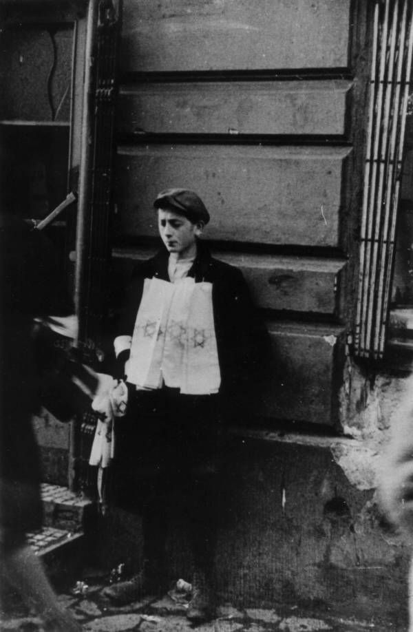 Jewish Ghettos Boy With Sign