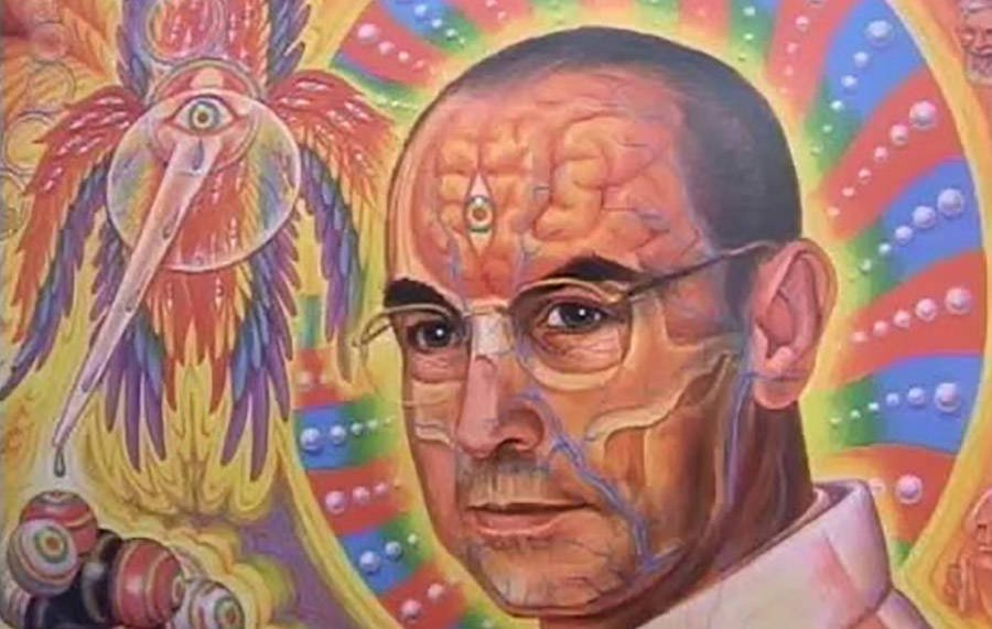 Psychedelic Painting Of Albert Hofmann
