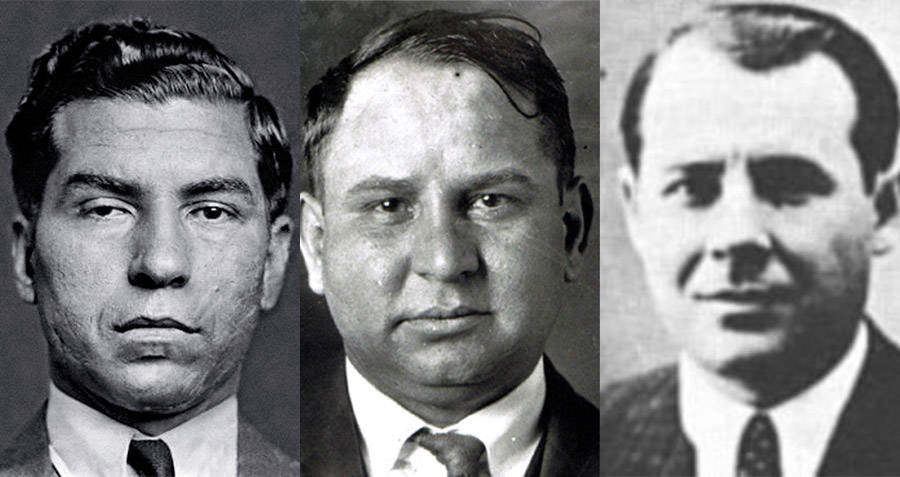 Mob Bosses Lucky Luciano Joe Masseria and Salvatore Maranzano