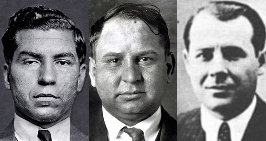 Mob Bosses Lucky Luciano Joe Masseria and Salvatore Maranzano
