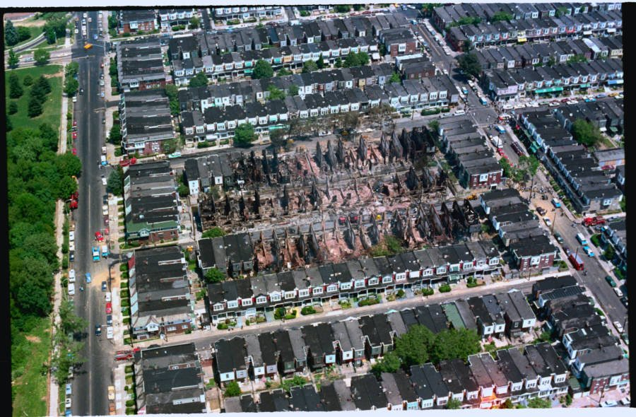 Move Bombing Aerial Photo