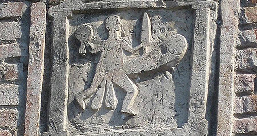 Penis Man Engraving In Pompeii