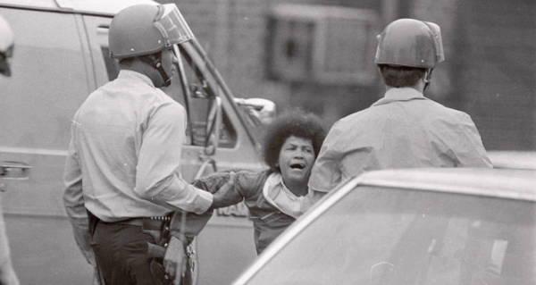 Police Grabbing Woman